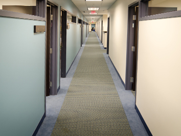 Corridor Design_Regus Office Suite, Bridgeport, CT- by Russell and Dawson