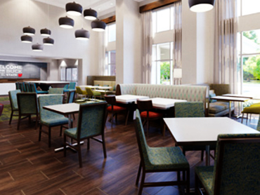 Restaurant_Hampton Inn_Hospitality Design Firm in Massachusettes_by Russell and Dawson