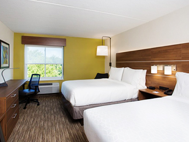 Guest Room-Holiday Inn Express_Hotel Design Services in Massachusettes_by Russell and Dawson