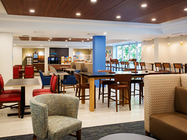 Lobby-Holiday Inn Express_Hotel Design Services in Massachusettes_by Russell and Dawson