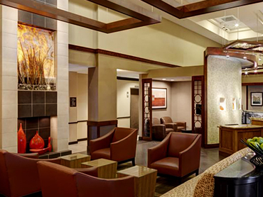Lobby_Hyatt Place, Milford, CT_Full Architecture and Engineering Design Services_by Russell and Dawson