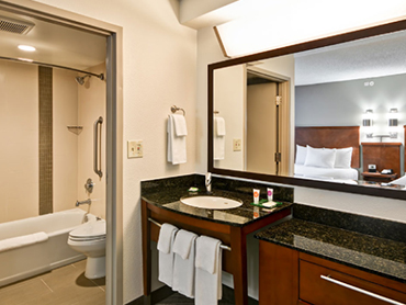 Bathroom Interiors_Hyatt Place, Milford, CT_Full Architecture and Engineering Design Services_by Russell and Dawson