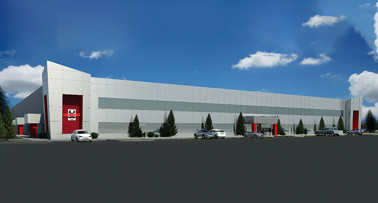 OSF Flavor_Rendering of Industrial Building Addition_Architecture Design_by Russell and Dawson