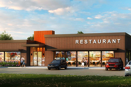 Restaurant-Rendering_Architecture Services_by Russell and Dawson