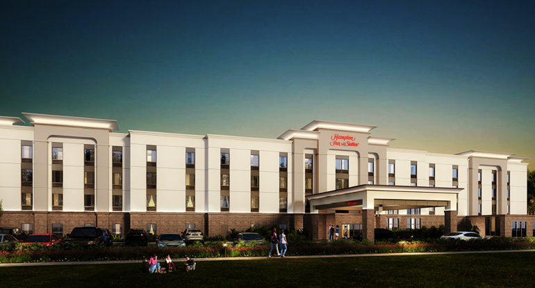 Hampton Inn, Keene, NH_ Design Build Project by Russell and Dawson